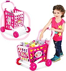 Tabu Toys World Girl's Cart Toy with Fruits and Vegetables, 47.5 x 38 x 9.3cm (Multicolour)