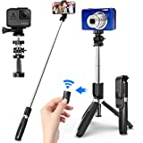 SYOSIN Palo Selfie Trípode con Control Remoto Bluetooth, 4 en 1 Monópode Extensible Selfie Stick Bolsillo Inalámbrico 360° Ro