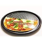 Plaque à pizza antiadhésif pour four 32,5 cm de diamètre avec technologie Fast Crisp