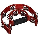 Mustang - Pro Half Moon Tambourine Double Cutaway Double Cutaway Tambourine with Double Row of Jingles { multi colors }