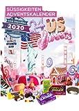 Amerikanischer Adventskalender 2020 I US Weihnachtskalender American Candy mit 24 Süßigkeiten aus den USA Sweets I…