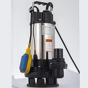 180W 12V Tauchpumpe Schmutzwasser Wasserpumpe Pumpe Drainage /& Poolentw/ässerungspumpe Edelstahl 6000L//H
