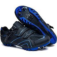 Scarpe da Ciclismo da Uomo MTB Bike Shoes Womens Mountain Ridge Shoes with Block SPD Scarpe Antiscivolo Indoor E Outdoor…