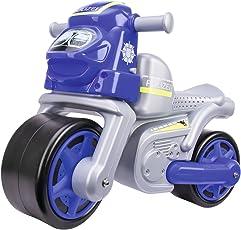 BIG 800056312 - Bike Polizei Kinderfahrzeug, Silber