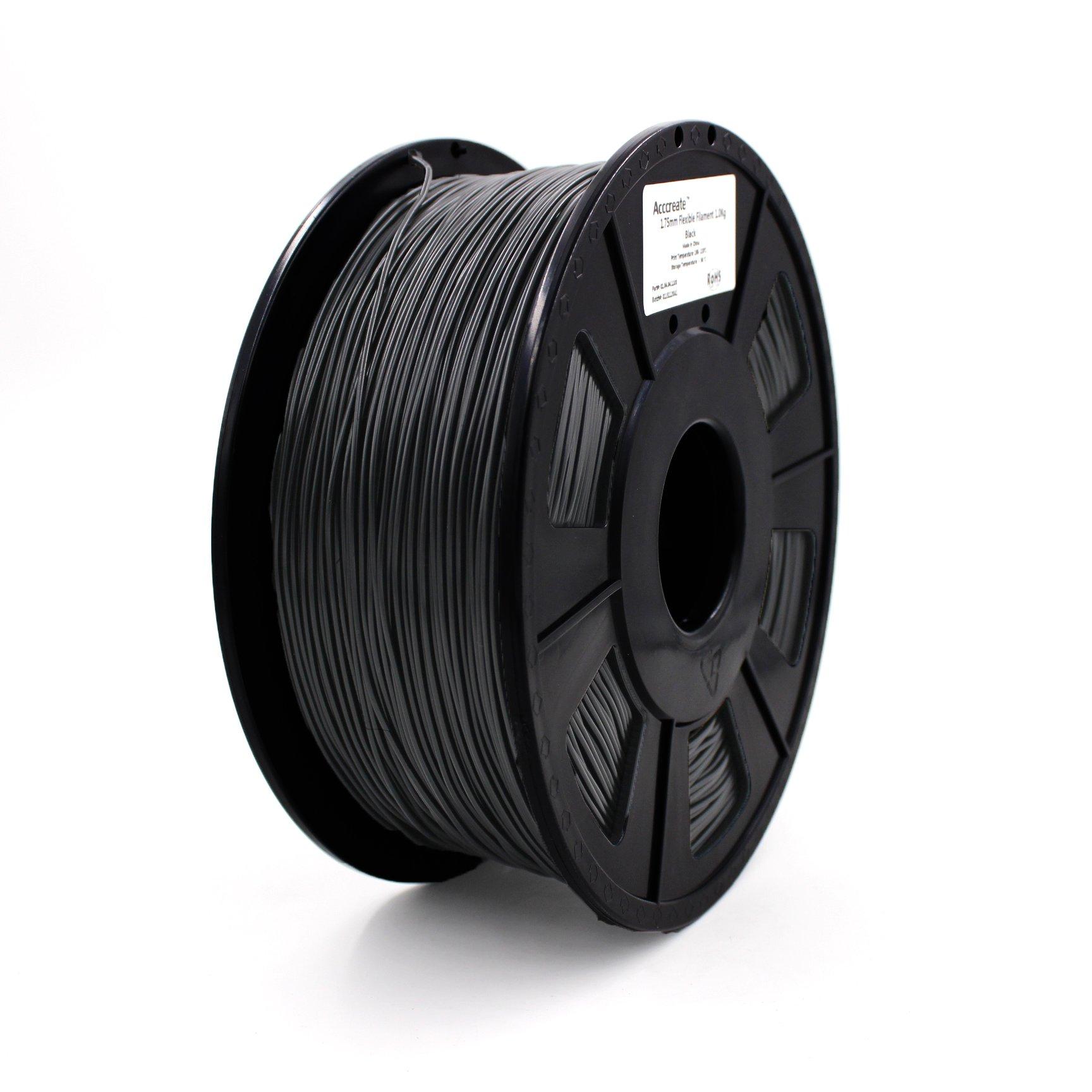 WEISTEK ACCCREATE 1.75mm Flexible PLA 3D Printing Filament, Dimensional Accuracy +/-0.05 mm, 1KG(2.2lbs)