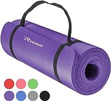 Reehut Tapis de Yoga 12 mm Haute Densité NBR, Conçu pour Le Yoga (Hatha, Nidra, Traditionnel, Pilates, Restauratif, Pré-Natal), Idéal pour Les Débutants