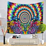 Multi-gekleurde hippie Tapestry Indiase wandkleden, Morbuy Art Decor Home Dorm Tapestries Bohemian Dorm Decoratieve Yoga Spre