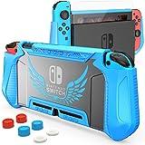 HEYSTOP Custodia per Nintendo Switch, TPU PC Protettiva Cover Case per Console Nintendo Switch Utilizzabile nel Dock con Copr