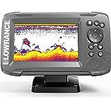 "Lowrance HOOK2-5X Hook2 GPS Splitshot HDI - Localizador de Peces (5""), Color Negro"