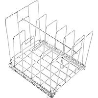 Uarter Verstellbarer Sous Vide Rack Edelstahl Vakuumbeutel Rack mit 5 abnehmbaren Trennwänden und 2 No-Float-Top-Bars…