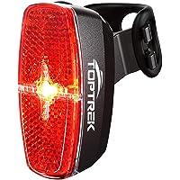 toptrek Fahrrad Rücklicht LED Rückleuchte mit Zmark Reflektor, Fahrradrücklicht Wasserdicht IPX4 Fahrradlicht Hinten für…
