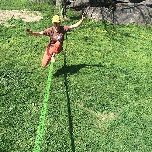 Macaco Slackline Set, 26 m lang, 5 cm breit + Baumschutz - 6