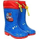 PERLETTI Botas de Agua Niño Disney Pixar Cars - Botines Impermeables Lluvia Rayo Mcqueen - Suela Antideslizante y Cierre con