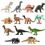 Shoro Cartoon Animal,Dinosaur Figures Set for Kids,Dinosaur Animal Play Set, Educational Toy Learning Toy - Assorted Size (Pack of 6 Assorted Dinosaur Animals)