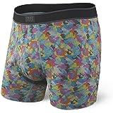 SAXX Underwear Co. Boxer Briefs - Daytripper Boxer Briefs With Built-In Ballpark Pouch Support Mens|Bright Mini Camo|Small
