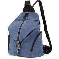 JOSEKO Frauen Leinwand Rucksack, Canvas Tasche Rucksäcke Damen Umhängentasche Große Kapazität Reisetasche Vintage…