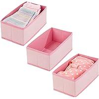 mDesign corbeille de rangement pour bébé (lot de 3) – box de stockage en polypropylène pour produits de bébé, couettes…