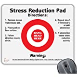 CP110 Very Funny Stress Reduction Pad Directions Novelty Gift Printed PC Laptop Computer Mouse Mat Pad