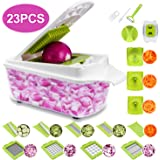 23 Pieces Vegetable Cutter Sedhoom Fruit Cutter Vegetable Choppers Mandolin Slicer Onion Chopper Food Chopper Veg Chopper Dic