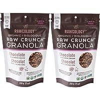 Rawcology | 2 pack Granola croccante al cioccolato biologico | Senza zuccheri aggiunti, senza glutine, chetogenico, paleo, raw