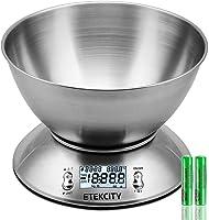 Etekcity Bilancia da Cucina Elettronica in Acciaio Inossidabile 5kg/ 11lb, Ciotola Mescolata, Timer Allarme, Indicatore...
