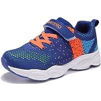 UMmaid Boys Girls VelcroTrainers Kids Breathable Lightweight Sneakers Sport Tennis Walking Running Shoes