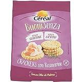 Crackers senza Glutine con rosmarino Céréal Senza lievito, per aperitivo, spuntino o snack salato, con olio EVO - 150 g