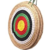Traditional Solid Straw Round Archery Target Shooting Bow Coloured Rope Target Face Three Layer for Shooting Practice