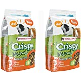 Versele Laga Crispy Muesli Guniea Pig Food, 1 kg (Pack of 2)