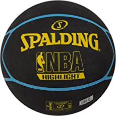Spalding Fast Highlight 83198Z Basketball Size-7 (Black/Yellow/Blue)