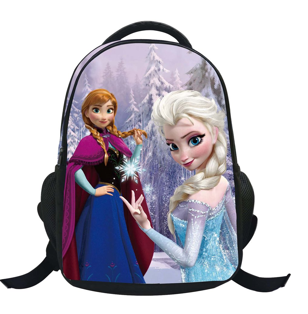 MissFox Backpack School Bag Zaino Frozen Principesse Anna E Elsa E Olaf Zainetto Ragazze C5