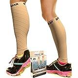 Calf Compression Sleeves (20-30mmHg) - Unisex Footless Compression Socks for Shin Splints, Varicose Veins, Leg Cramps, Achill