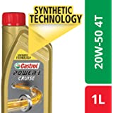 Castrol POWER1 Cruise 4T 20W-50 API SN Synthetic Engine Oil for Bikes (1L)