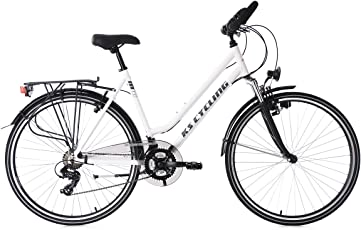 KS Cycling Damen Trekkingrad Alu-Rahmen 28'' Metropolis RH 48 cm Multipositionslenker Fahrrad, weiß