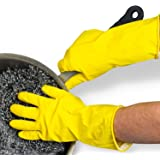 HI-LEE Rubber Stretchable Hand Gloves for Washing, Kitchen Cleaning