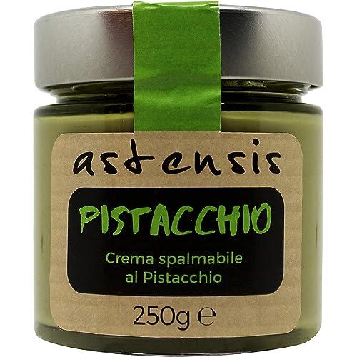 ASTENSIS Crema Spalmabile Gusto Pistacchio - 250 Grammi - Adatta Per Dolci, Colazioni, Prodotti di Pasticceria