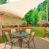 WOKKOL Toldo Vela de Sombra, Toldo Vela de Sombra Jardín, Toldo Vela de Sombra Patio, Toldo de Vela Solar, 90% Resistente UV,