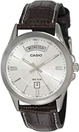 Casio Enticer Analog Silver Dial Men's Watch   MTP 1381L 7AVDF  A845