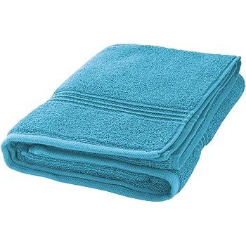 axentia Badetuch-Handtücher für Dusche, Strand und Fitnessstudio-Badehandtuch-Strandhandtuch-Saunatuch aus Baumwolle-Sporthandtuch groß, Stoff, Türkis, 70 x 140 x 0.4 cm