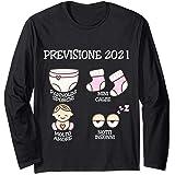 Previsione 2021 Mamma e Pap/à Regalo Futura Mama Futuro Pap/à Maglietta