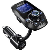 VICTSING Transmetteur FM Bluetooth Adaptateur Bluetooth Autoradio Kit Voiture Main-libre Sans Fil Adaptateur Radio Chargeur avec Double Port USB 5V/ 2.1A et Port Audio 3,5mm
