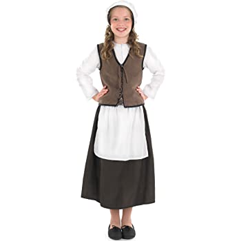 CHILDS TUDOR COSTUMES POOR RICH SCHOOL KIDS HISTORICAL VICTORIAN FANCY DRESS