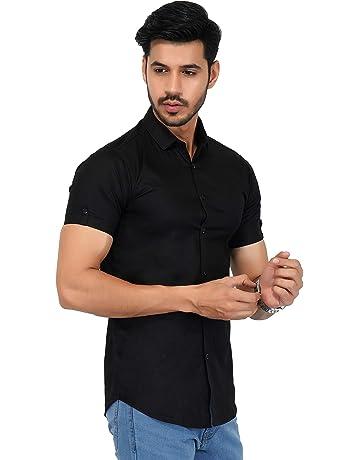 Indian Handicrfats Export Navy Blue Striped Slim Fit Cotton Mens T-Shirt