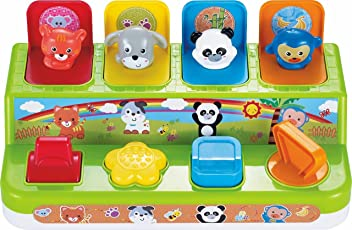 Baybee Pop-up Activity Bugs | Play Favorites Busy Poppin Pals | Brilliant Basics Pop-up Activity Colorful Animal Shapes & Colors Early Development Toys