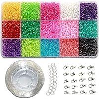 Ewparts 3mm Mini Perles en plastique de verre pour enfants Bracelet de bricolage Art & Bijouterie, Ensemble de…