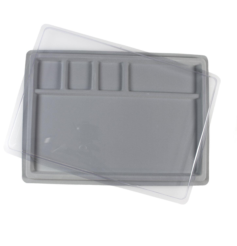 BB Beaders Board floccato grigio con coperchio trasparente 36x 25cm