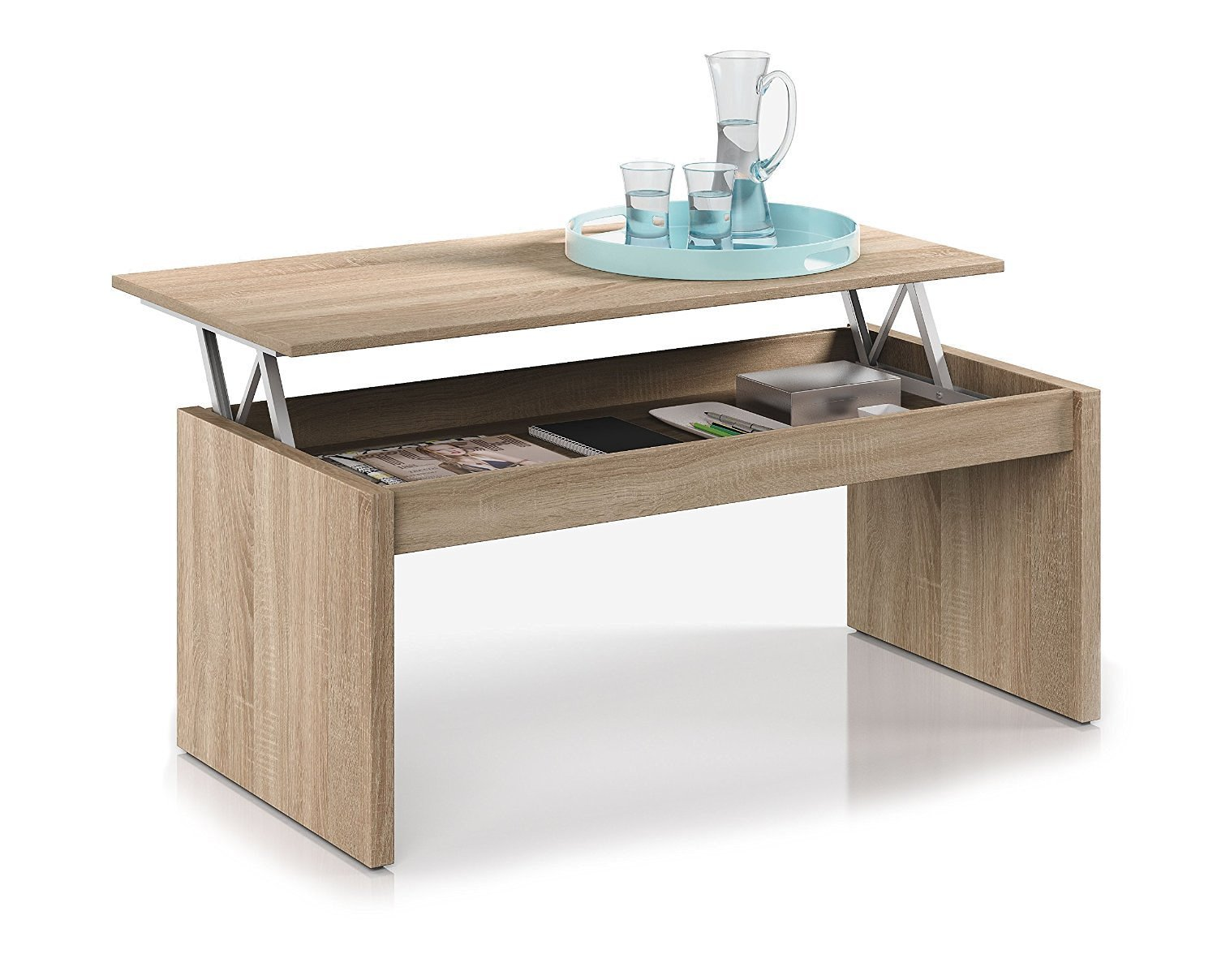 Habitdesign F Table Basse Chªne naturel Avec Plateau