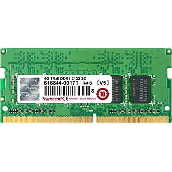 Transcend CL15 Mémoire RAM DDR4 4 Go 2133 MHz Unbufferred Non-ECC 1,2V
