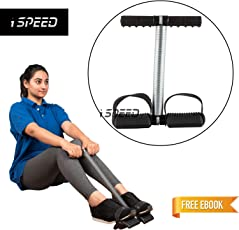 iSpeed Premium Tummy Trimmer Abs Exerciser Single Spring for Unisex &Men,Women Fitness with Free E-Book