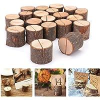 20 pezzi Segnaposto in legno rustico, Segnaposto Legno forma,segnaposto in legno per matrimoni per decorazioni nuziali e…